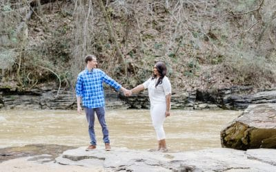 Vickery Creek Trail at Roswell Mill Engagement Session