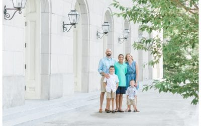 Downtown Macon Family Photographer | Macon City Auditorium Photo Shoot | The Philips Family