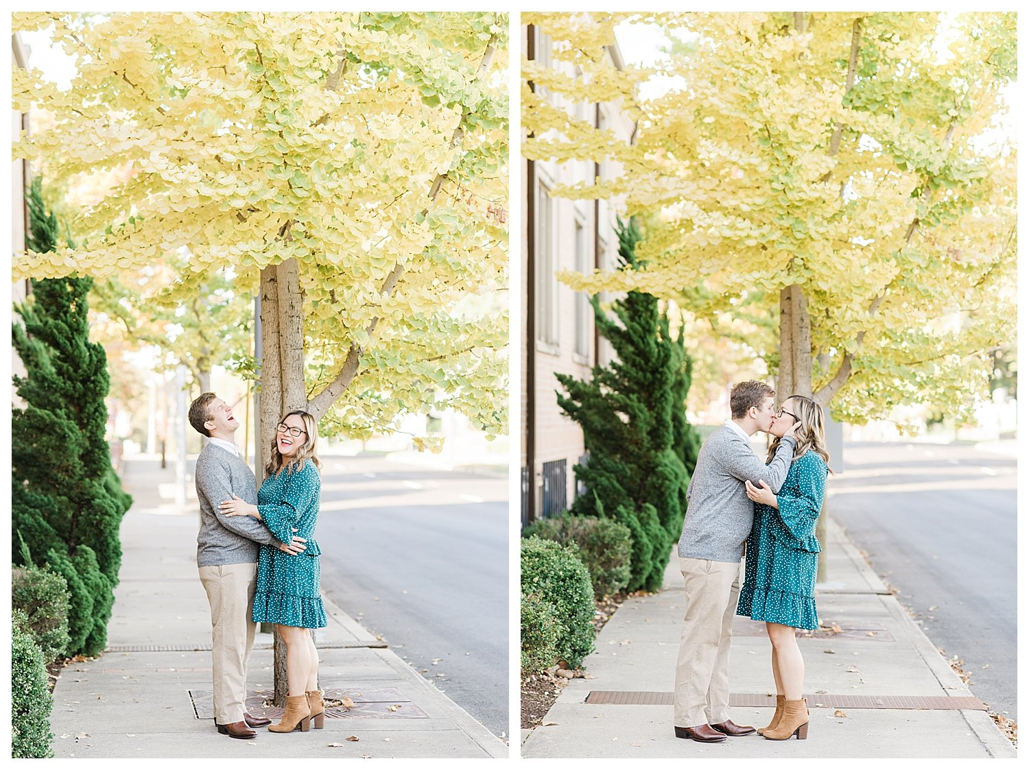 engagement session in marrietta square