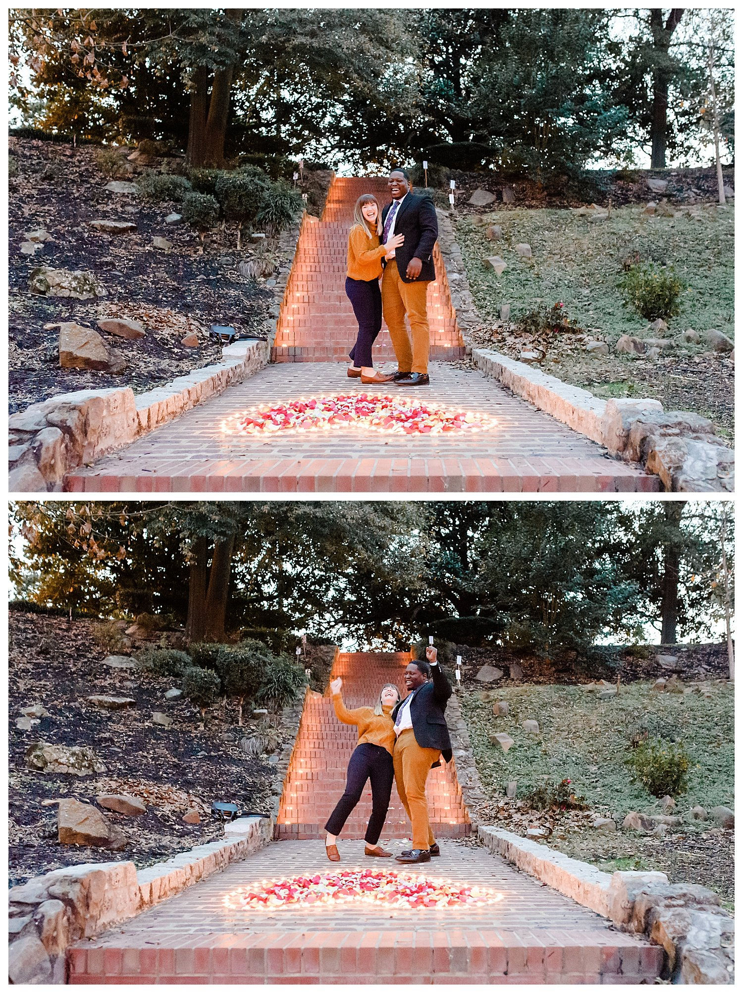 Proposal in downtown macon engagement photographer