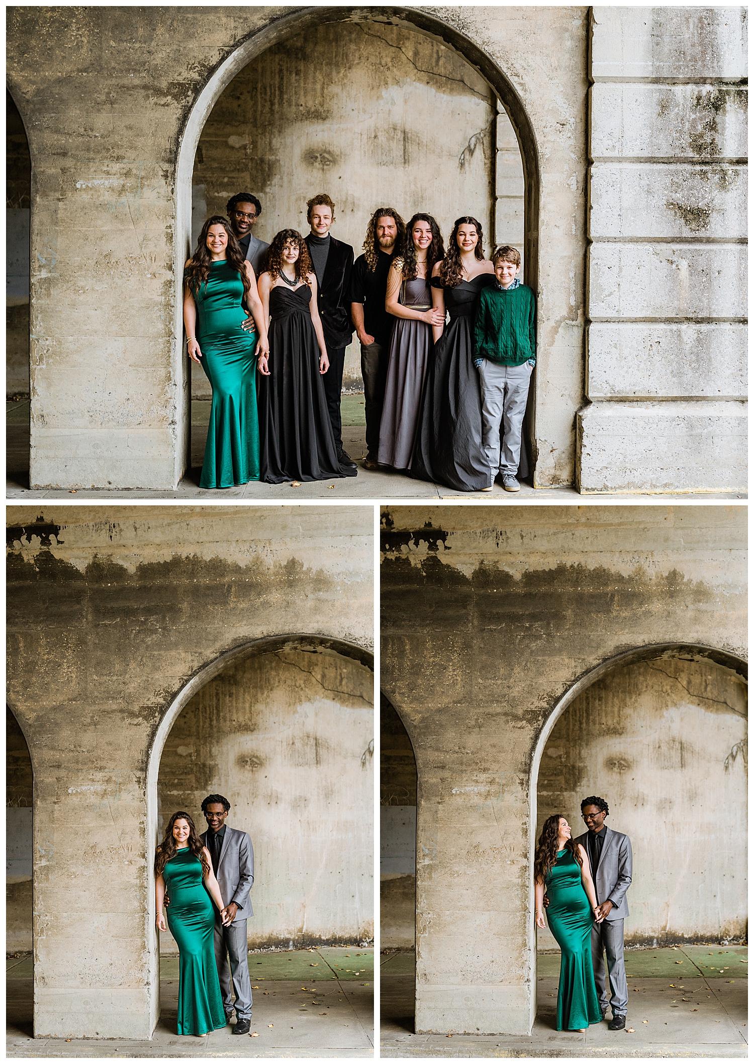 Formal Family Photos at The Macon City Auditorium
